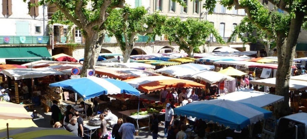 Gourmet Outdoor Market in the Herault region, nearby the Medditeeranean Sea
